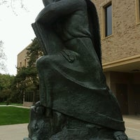 Photo taken at Hesburgh Library by Feyza D. on 5/3/2017