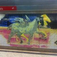 Photo taken at Metro Olivais [VM] by Orlando Santos A. on 4/16/2013