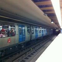 Photo taken at Metro Colégio Militar / Luz [AZ] by Orlando Santos A. on 11/17/2012