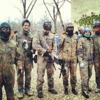 Photo taken at Pannon Paintball by Cintia P. on 3/24/2013