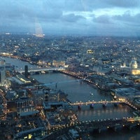 Photo taken at The View from The Shard by Satsuki M. on 3/10/2013
