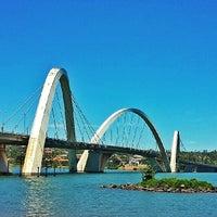 Photo taken at Orla da Ponte JK by Breno F. on 10/13/2013