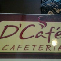 Photo taken at D'Café Cafeteria by Cleber R. on 10/17/2012