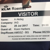 Photo taken at KLM De Roemer by Ahmet A. on 7/20/2017