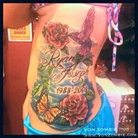 Photo taken at VON ZOMBIE Tattoo, Piercing & Clothing Co by VON ZOMBIE Tattoo, Piercing & Clothing Co on 7/30/2013