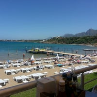 Photo taken at Escape Beach Club by Reyhan Taylan H. on 6/3/2013