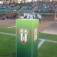 Photo taken at Rohonci úti stadion by Czerkl G. on 3/30/2014