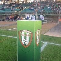 Photo taken at Rohonci úti stadion by Czerkl G. on 4/13/2014