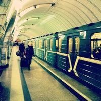 Photo taken at metro Chkalovskaya by Andrey on 12/1/2012