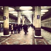 Photo taken at Metro Kiyevskaya, line 4 by Andrey on 11/30/2012