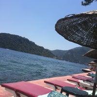 Photo taken at Marmaris Park Beach by Ekin Ç. on 6/26/2017
