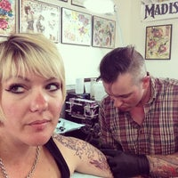 Photo taken at Eldritch Brothers Tattoo and Piercing by Katsune O. on 6/9/2014