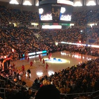 Photo taken at WVU Coliseum by Neale H. on 3/9/2013