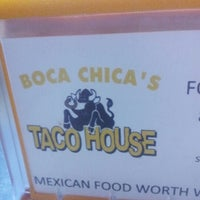 Photo taken at Boca Chica's Taco House by Zack U. on 11/2/2012