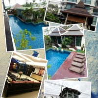 Photo taken at Royal Thai Pavilion Jomtien Boutique Resort by Namphung R. on 7/22/2013