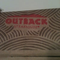 Photo taken at Outback Steakhouse by Cathy C. on 10/18/2012