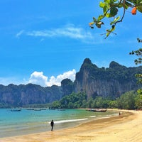 Photo taken at Railay Beach West by Noom K. on 8/10/2014