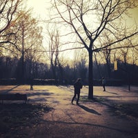 Photo taken at Parco di via Argelati by Francesco B. on 2/22/2014
