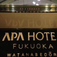 Photo taken at APA Hotel Fukuoka Watanabedori by Fujihiro K. on 8/30/2013