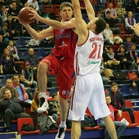 Photo taken at Alexander Gomelsky CSKA USH by Roumiantsev O. on 11/5/2012