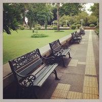 Photo taken at Santichai Prakan Park by Pori P. on 7/27/2013