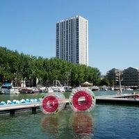 Photo taken at Paris Plages – Bassin de la Villette by Fernando on 7/20/2013