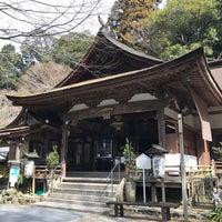 Photo taken at 岩間寺 (岩間山 正法寺) by Kenny A. on 3/25/2017