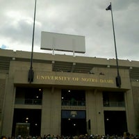 Photo taken at Notre Dame Stadium by Kelly M. on 10/20/2012