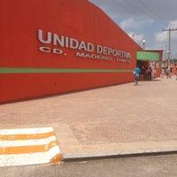 Photo taken at Unidad Deportiva de Ciudad Madero by Gaby A. on 7/26/2013
