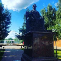 Photo taken at Памятник Екатерине II by Жека Г. on 6/24/2016