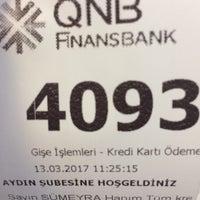 Photo taken at QNB Finansbank by Bekir & Sümeyra A. on 3/13/2017
