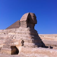 Photo taken at Great Sphinx of Giza by Michael S. on 11/17/2012