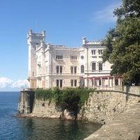 Photo taken at Castello di Miramare by Simone P. on 8/27/2013
