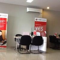 Photo taken at Bank CIMB Niaga by nana m. on 10/19/2012