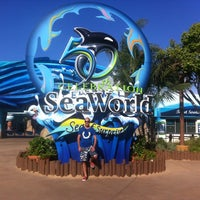 Photo taken at SeaWorld Annual Passport Member Entrance by Omer T. on 9/17/2014