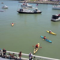 Photo taken at McCovey Cove by Brian C. on 5/11/2013