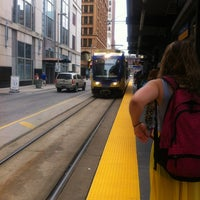 Photo taken at Nicollet Mall LRT Station by Irini B. on 6/11/2013
