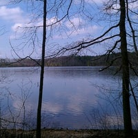 Photo taken at St. Mary's Lake by Katie C. on 10/16/2012