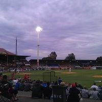 Photo taken at Cooper's Stadium by Chris K. on 11/2/2012