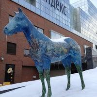 Photo taken at Yandex HQ by Alexandra L. on 3/13/2013