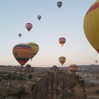 Photo taken at Ürgüp Hot Air Balloons by Feyza K. on 8/7/2018