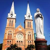 Photo taken at Saigon Notre-Dame Basilica by Puna on 3/3/2013