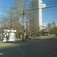Photo taken at Остановка «Буревестник» by Алексей Б. on 5/11/2013