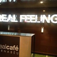 Photo taken at Real Café Bernabéu by Angela V. on 4/8/2013