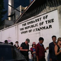 Photo taken at Embassy of the Republic of the Union of Myanmar by Minyoung K. on 12/24/2012