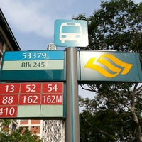 Photo taken at Bus Stop 53379 (Blk 245) by 脇杰倫 (. on 7/23/2014