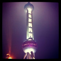 Photo taken at Oriental Pearl Tower by Naran N. on 11/16/2012
