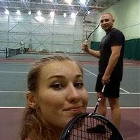 Photo taken at Теннисный корт TETRA by Evgenia Y. on 11/21/2015