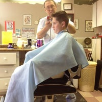 Photo taken at Jim's Barber Shop by Anne-Marie N. on 10/9/2012