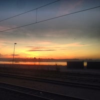 Photo taken at Sölvesborg Station by Fredrik P. on 10/8/2013